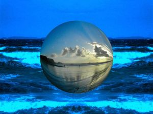 globe above water