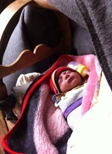 newborn refugee baby