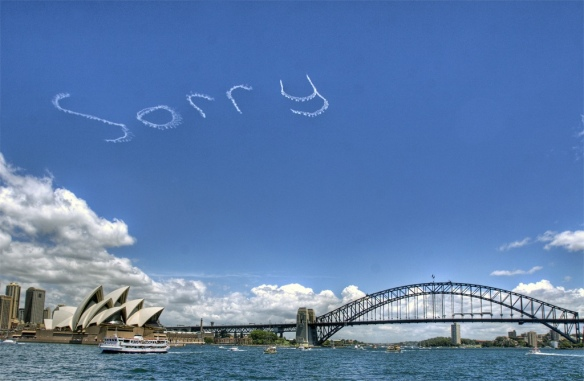 sorry skywriting