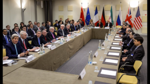 Iran and P5+1 nego table (uncredited photo)