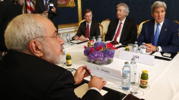 Kerry & Zarif at the table