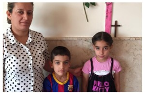 Seiple visits a mother and her two children who fled ISIS