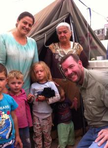 Seiple visits a displaced family