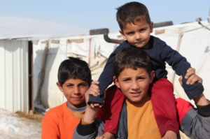 3 refugee boys in Lebanon [Carmen Andres]