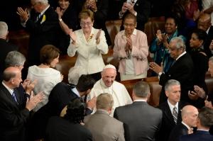 Congress schmoozong Pope Francis