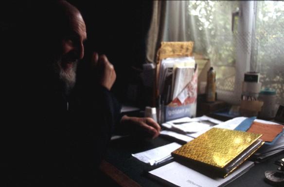 John Peck at his desk